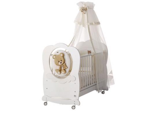 Купить Кроватка-качалка Baby Expert Abbracci-Trudi (белый), бук, Кроватки-качалки
