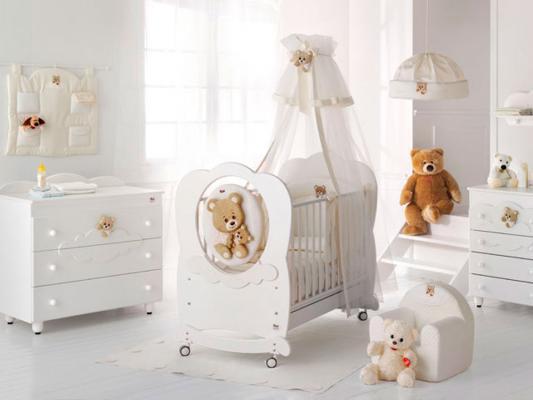 Кроватка-качалка Baby Expert Abbracci-Trudi (белый)