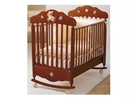 Кроватка-качалка Baby Expert Bijoux (орех)