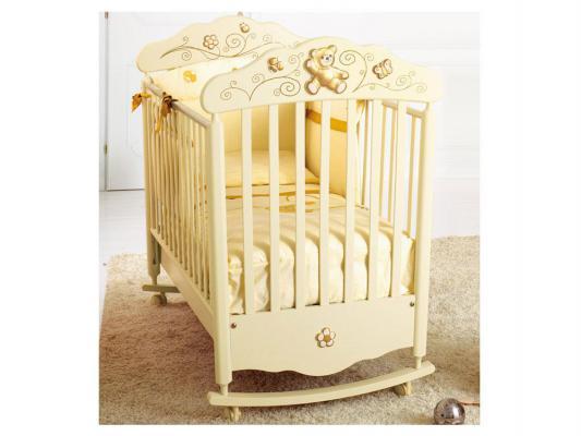 Купить Кроватка-качалка Baby Expert Bijoux (крем/золото), кремовый, бук, Кроватки-качалки