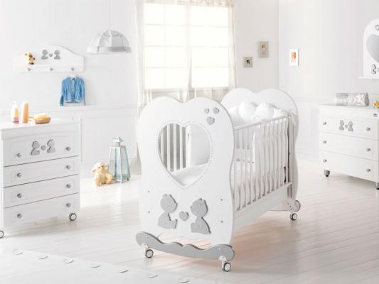 Кроватка-качалка Baby Expert Cuore di Mamma (белый)