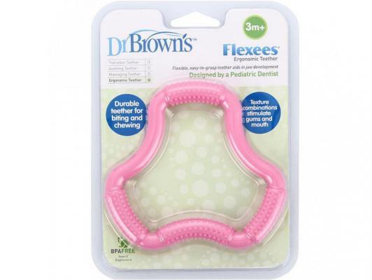 Прорезыватель Dr.Brown Flexees розовый с 3 месяцев 11101 обои арт 11101 01