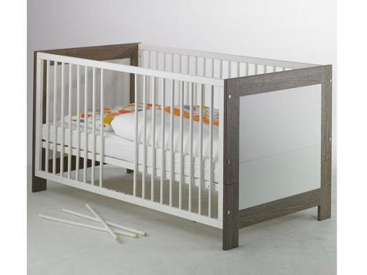 Кроватка-трансформер Geuther Marlene (бело-серый) шкаф geuther шкаф geuther marlene трехсекционный серо белый