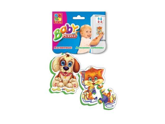 Пазл на магните Vladi toys Беби пазлы Домашние любимцы 6 элементов VT3208-02 vladi toys игра на магнитах домашние любимцы vladi toys