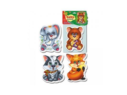 Пазл Vladi toys магнитный Лесные жители 9 элементов VT3208-03 мягкий пазл 20 элементов vladi toys зверята vt3203 42