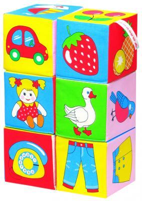 Кубики МЯКИШИ 001 Предметы от  года 6 шт