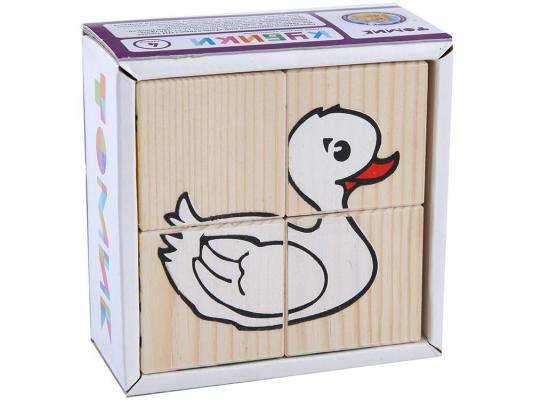 Кубики Томик Животные от 1 года 4 шт 3333-1