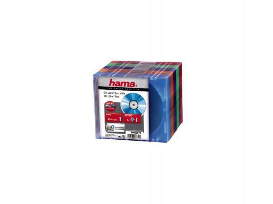 Коробка HAMA для 1 CD 5 цветов 25шт H-62670 от 123.ru