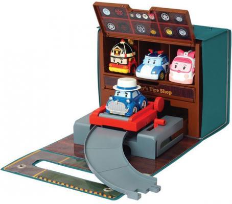 Игровой набор Poli Robocar Мастерская Уиллера (без машин) от 3 лет 83247 набор игровой для мальчика poli цементный завод