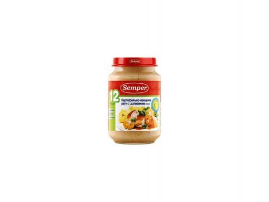 Пюре Semper Картофельно-овощное рагу с цыпленком с 12 мес. 190 гр.