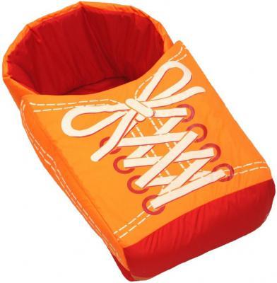 Матрац для санок RT Кеды с накидкой на ножки оранжевый