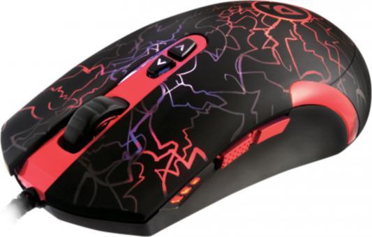 Мышь проводная DEFENDER ReDragon Lavawolf чёрный красный USB 70236 мышь проводная defender redragon titanoboa чёрный красный usb 70243