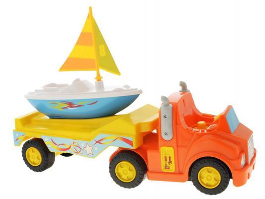 Автомобиль Kiddieland Трейлер с яхтой разноцветный KID 047928