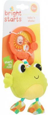 Купить Развивающая игрушка Bright Starts Дрожащий дружок, Лягушка, Игрушки-подвески