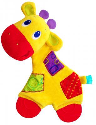 Игрушка-прорезыватель Bright Starts Самый мягкий друг, Жирафик разноцветный с рождения 8916-3 прорезыватель bright starts динозаврик желтый 52029 2