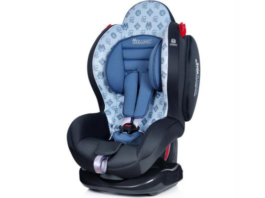 Автокресло Welldon Smart Sport Side Armor & Cuddle Me Isofix (hallmarks grey)