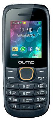 """Мобильный телефон QUMO Push 184 GPRS черный 1.8"""" 32 Мб"""