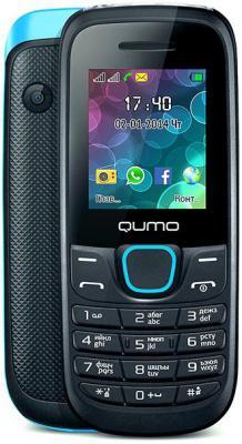 """Мобильный телефон QUMO Push 184 GPRS Dual синий 1.8"""" 32 Мб"""