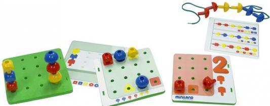 Развивающая игрушка Miniland Обучающий чемоданчик Мозаика с заданиями 02709