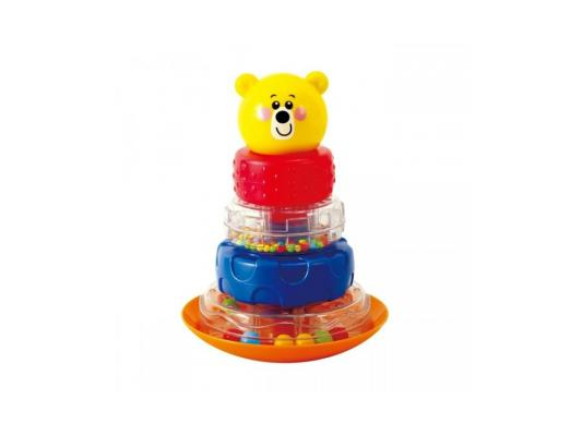 Развивающая игрушка Playgo Пирамида-неваляшка Мишка цена и фото