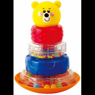 Развивающая игрушка PLAYGO Пирамида-неваляшка Мишка Play 2392 развивающие игрушки red box неваляшка мишка