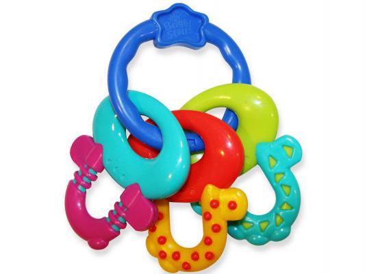 Прорезыватель Bright Starts Ключи для улыбки разноцветный с рождения bright starts прорезыватель ключи принцессы