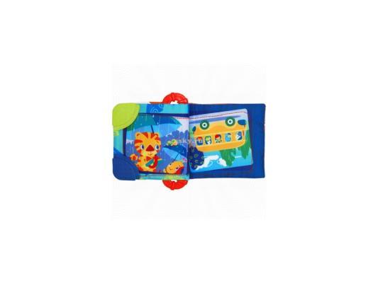 Книжка-прорезыватель Bright Starts Веселые зверюшки голубой с рождения 8475-1 прорезыватель bright starts динозаврик желтый 52029 2
