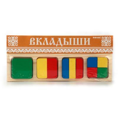 Доска-вкладыш Томик Геометрия Квадрат 11 элементов 332