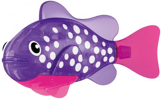 Интерактивная игрушка ZURU РобоРыбка Биоптик от 3 лет фиолетовый 2541E игрушка для ванны robofish светодиодная роборыбка биоптик цвет фиолетовый розовый