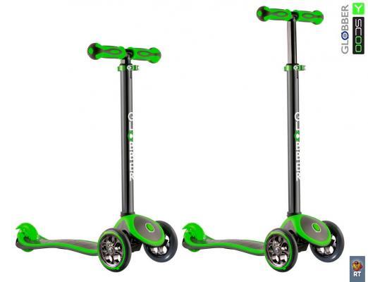 Самокат Y-SCOO Globber My free Titanium neon зеленый 401367 самокат y scoo y scoo rt globber my free new technology зеленый