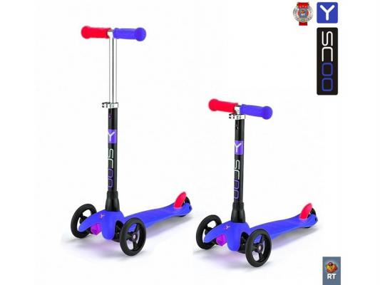Самокат трехколёсный Y-SCOO mini Glam RT dark blue синий