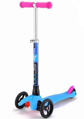 Самокат Y-SCOO mini Glam RT голубой Light Blue самокат y scoo gun 205 с ручным тормозом blue