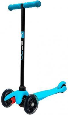 Купить Самокат Y-SCOO Mini Simple A5 120/85 мм синий, Трехколесные самокаты для детей