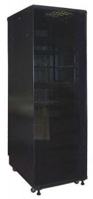 Шкаф напольный 22U Lanmaster TWT-CBB-22U-6X8-00 600x800mm без дверей с боковыми стенками черный