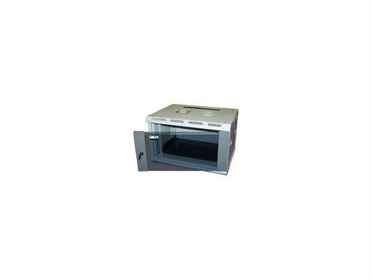 Шкаф настенный 12U Lanmaster TWT-CBW3-12U-6X6 600x600mm 3-х секционный стеклянная дверь