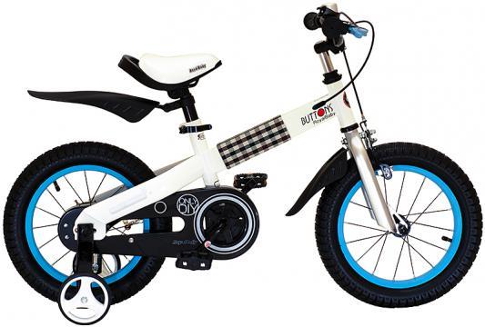 "Велосипед Royal baby Buttons Steel White frame 14"" синий"