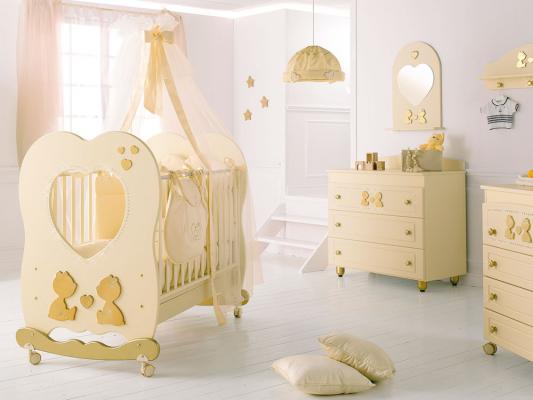 Кроватка-качалка Baby Expert Cuore di Mamma (крем)