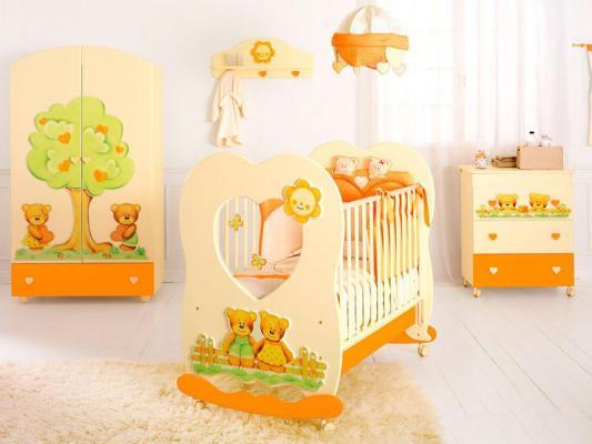Кроватка-качалка Baby Expert Cuore (крем)