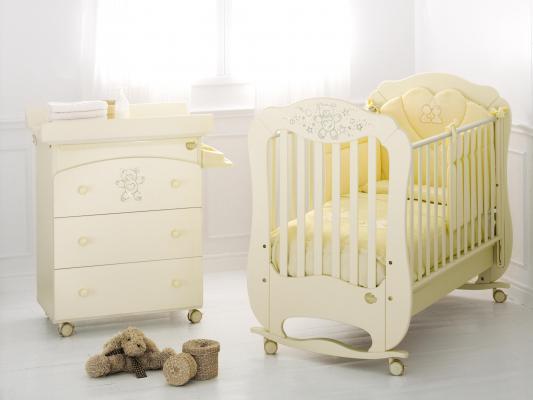 Кроватка-качалка Baby Expert Diamante (крем)
