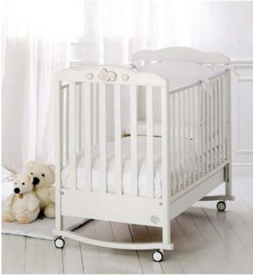 Купить Кроватка-качалка Baby-Expert Dormiglione (белый/серебро)