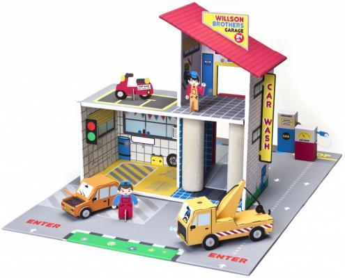 цена на Игровой набор Krooom Детский гараж Уилсон Бразерс разноцветный 43 см К-303