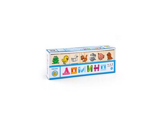 Настольная игра Томик домино Животные (28 костяшек) 5555-1 настольная игра томик домино игрушки 28 костяшек 5555 3