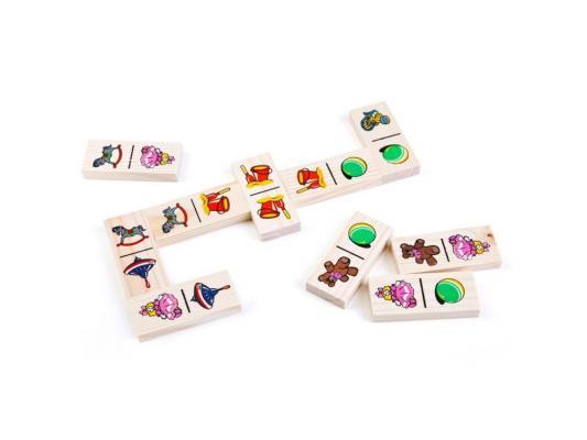 Настольная игра Томик домино Игрушки (28 костяшек) 5555-3 домино томик игрушки
