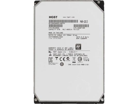 """Жесткий диск 3.5"""" 6Tb 7200rpm HGST Ultrastar He8 SATAIII HUH728060ALE604 0F23669"""