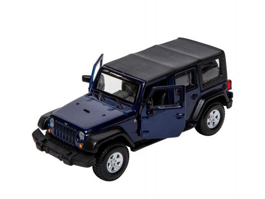 Автомобиль Bburago Jeep Wrangler Unlimited Rubicon 1:32 синий