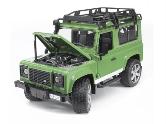 Джип Bruder с прицепом-коневозкой и лошадью зеленый 28 см 02-592