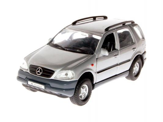 Автомобиль Welly MERCEDES BENZ M-CLASS 1:31 серый  welly mercedes benz m class 1 31