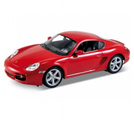 Автомобиль Welly Porsche Cayman S 1:18 красный