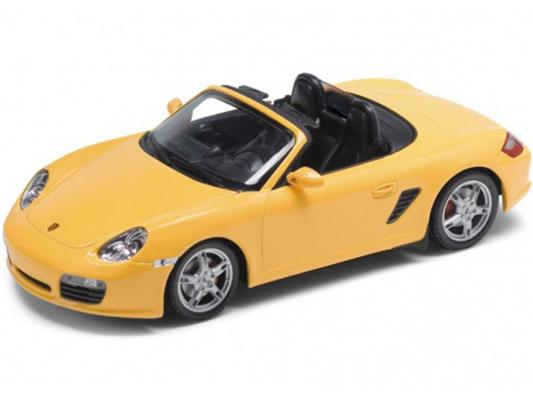 Автомобиль Welly Porsche Boxster S, convertible 1:24 желтый