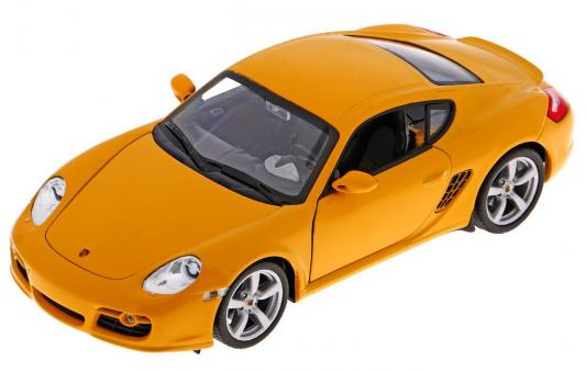 Автомобиль Welly Porsche Cayman S 1:24 желтый автомобиль welly audi r8 v10 1 24 белый 24065